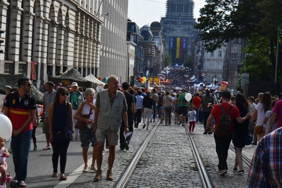 Nationale feestdag in de Regentschapstraat