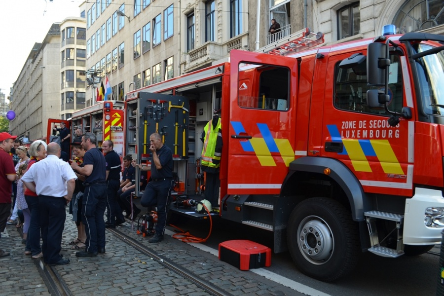La zone de secours Luxembourg expliquent leurs nouveaux véhicules