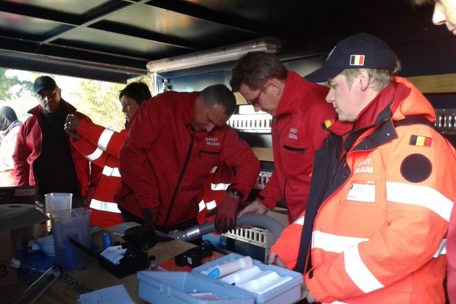EUFraModex Module Water purification de la Protection civile belge