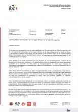 Brief van minister Jambon aan de voorzitters van de hulpverleningszones